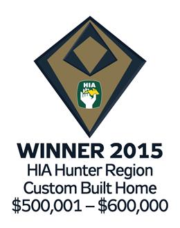 Winner 2015 Hunter Custom Built Home $500,001-$600,000