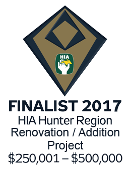 Finalist 2017 Hunter Renovation / Addition Project $250,001-$500,000