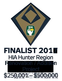 Finalist 2017 Hunter Renovation / Addition Project $250,001-$500,000
